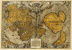 Карта мира Оронтия Финея 1531 г. - карта светлой половины Земли в раннемиоценовую эпоху (23-16 млн. лет назад)? - Земля до потопа: исчезнувшие континенты и цивилизации