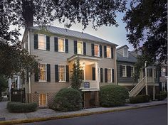 Colonial home on Washington Square in the heart of Historic Savannah. Built in 1802, this 3 bedroom, 2.5 bath house offers over 3000 sq. ft of graceful living. Four fireplaces, hardwood floors, formal dining room, modern kitchen, relaxing garden level suite with wet bar and historic charm fill this home. #zillow