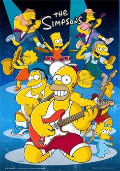 simpsons poster | Simpsons-Rock Pôster em 3D