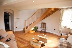 modern stair | contemporary-oak-staircase #stairs #stairdesign #homestair
