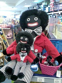 A rag doll, usually called a Golliwog, Golliwogg, or Golly, is typically a rag doll with a black face and distinctive white rimmed eyes. Political opinions vary as to whether or not the Golliwog represents racism, though history shows they were beloved dolls, as popular as the teddy bear, and considered suitable soft toys for young boys.