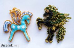 Inspiration towards a crocheted one. bead pegaz pattern