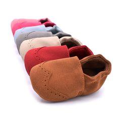 새로운 봄 무리 가죽 아기 모카신 유아 아기 유아 신발 얕은 신생아 아기 신발 먼저 워커