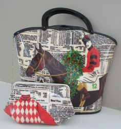 RARE vintage Soure Bag New York Equestrian Horse Purse Horse Lovers Rider Jockey Kentucky Derby Polo Match Summer Dressage Churchill Downs Haute Couture Preppy Ralph Lauren Style LuxeLovers #SoureBag #SoureNewYork