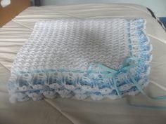 colcha para bebe varon hecha a crochet