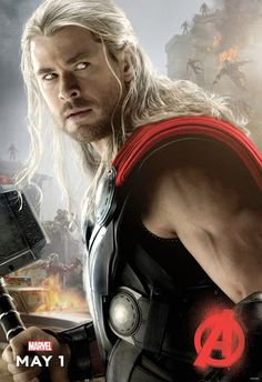 """Australian actor Chris Hemsworth as Norse God Thor of Thunder in  """"Avengers: Age of Ultron 2"""" movie."""