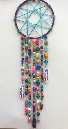 Boho Dekor Gypsy Dream Catcher Boho Chic Bohemian Source by decor gypsie Dream Catcher Patterns, Dream Catcher Decor, Dream Catcher Boho, Yarn Crafts, Bead Crafts, Diy Arts And Crafts, Crafts To Make, Dreamcatchers, Bohemian Decor