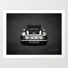 """This classic British car is the original Mini Cooper. To see more iconic cars please visit my """"Classic Car #3"""" collection.<br/> <br/> <br/> mini cooper, mini, classic mini cooper, classic mini, john cooper, sports car, british car, transport, transportation, classic car, mini poster"""