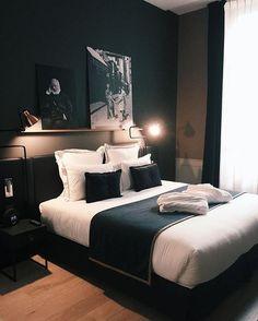25 black and white bedroom interior design trends for . - 25 black and white bedroom interior design trends for - Black Bedroom Decor, White Bedroom Design, Home Decor Bedroom, Bedroom Designs, Bedroom Brown, Ikea Bedroom, Double Bedroom, Dark Cozy Bedroom, Dark Master Bedroom
