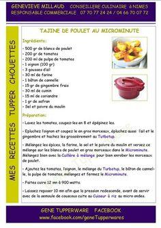 Tajine de poulet micro-minute Tupperware