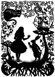 Alice in Wonderland ~ Silhouette Cross Stitch Pattern Counted Kirigami, Modern Cross Stitch, Cross Stitch Patterns, Paper Art, Paper Crafts, Paper Lamps, Diy Crafts, Cut Paper, Paper Lanterns
