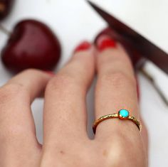 I've just found Raw Stone Stacking Ring: Turquoise. Inspired by the natural rawness and beauty of semi precious stones. Reminiscent of ancient jewellery. A stylish versatile classic.. £150.00