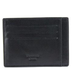 V Wallet Pebble Leather RFID Blocking Card Holder Black Rfid Blocking Wallet, Minimalist Wallet, Pebbled Leather, Card Holder, Black, Minimal Wallet, Rolodex, Black People