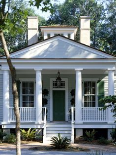 charming white house with porch