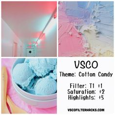 Cotton Candy Instagram Feed Using VSCO Filter T1