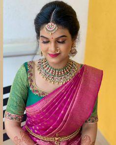 Kerala Saree Blouse Designs, Half Saree Designs, Fancy Blouse Designs, Bridal Blouse Designs, Blouse Neck Designs, Sarees, Indian Bridal, Gold, Waist Belts