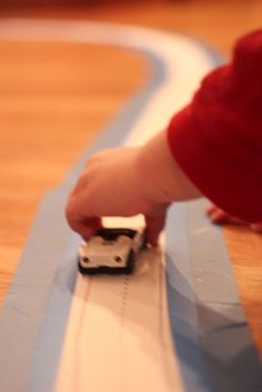 Race Track made with classroom sentence strips