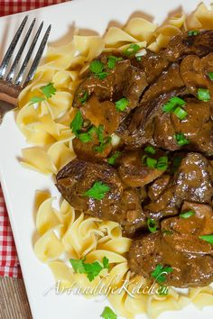 Slow cooker Beef Stroganoff- my favourite recipe for Beef Stroganoff