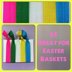$5.00 - Five pack of hair ties  http://www.facebook.com/pages/BowHead/197287539277