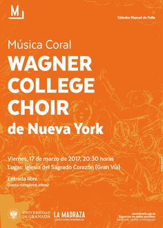 En la Iglesia del Sagrado Corazón de Jesús de Granada, la #CMDeFallaUGR nos trae hoy,20:30h, a la #WagnerCollegeChoir de Nueva York, con un concierto de #MúsicaCoral . Entrada Libre. https://www.facebook.com/notes/la-madraza-centro-de-cultura-contempor%C3%A1nea-universidad-de-granada/m%C3%BAsica-coral-con-wagner-college-choir/1624014397627917