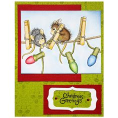 Stampendous Cling Mounted Rubber Stamps - House Mouse Designs - Hanging Lights