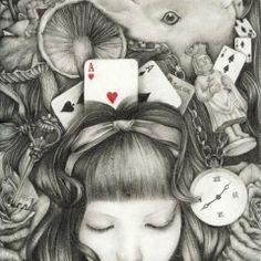 .Alice in Wonderland concept drawing