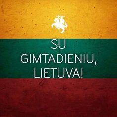 Happy birthday Lietuva!