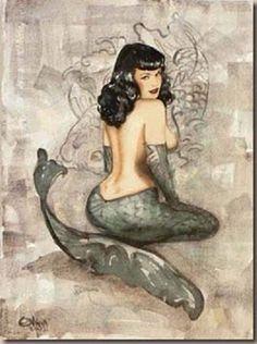 ☆ Mermaid Pin-up :: Artist Olivia De Berardinis ☆