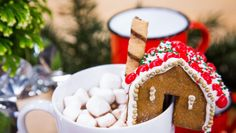 Top your mug of hot coco w/ a Mini Gingerbread House! Tune into #homeandfamily weekdays at 10/9c on Hallmark Channel!