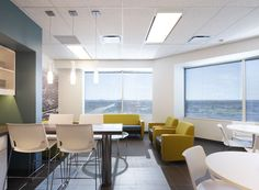 westparks + associates • Cushman Wakefield space.  Love the color combo.