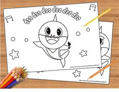 Pinkfong Baby Shark Coloring Pages