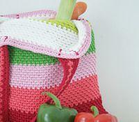 Crochet market bag: free crochet pattern | Happy in Red