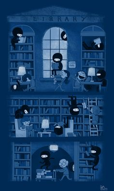 Ninjas like to read too, you guys.