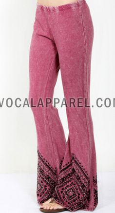 VOCAL -USA MADE -SOFT BELL BOTTOM RHINESTONE PANTS S-M-L-XL – Debra's Passion Boutique