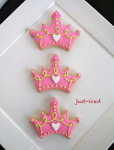 just-iced: custom handmade sugar cookies: Tiara Cookies
