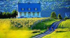 Île d'Orléans -  Province of Québec, Canada. Parfaite pour une randonnée à vélo.
