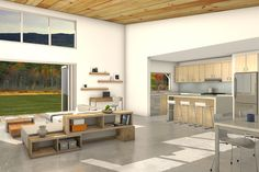 Modern Style House Plan - 3 Beds 2 Baths 2115 Sq/Ft Plan #497-31 Interior - Kitchen - Houseplans.com