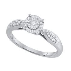 1/6CT-Diamond FASHION RING