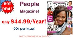 BEST DEAL AROUND! People Magazine for only $44.99 per year! That is only $0.90 per issue! Save over $350 a year off the cover price!  Click the link below to get all of the details ► http://www.thecouponingcouple.com/people-magazine-only-54-99year-reg-399-00/ #Coupons #Couponing #CouponCommunity  Visit us at http://www.thecouponingcouple.com for more great posts!