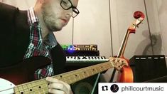 #Repost @phillcourtmusic with @get_repost  Working on time left hand muting & feel. Sounding deep with @optimastrings RB Flatwound Strings on my Stingray