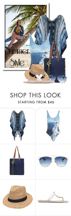 """Summer Style"" by queenrachietemplateaddict ❤ liked on Polyvore featuring Topshop, Orlebar Brown, Christian Dior, Gottex and Ancient Greek Sandals"