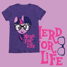 Twilight Sparkle Nerd for Life Tshirt Design WeLoveFine