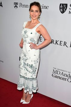 13 April Emilia Clarke in Dolce & Gabbana at the Parker Institute For Cancer Immunotherapy Gala in Los Angeles.