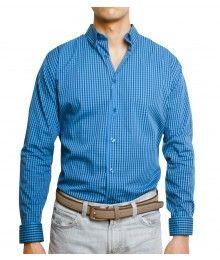 a0754098b5 Vestimenta para Hombre. Camisa de cuadros azul  MensFashion. Andrea Iniesta  · Ropa casual para caballero