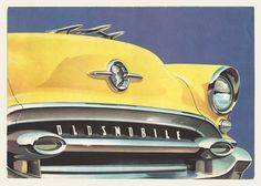 Vintage yellow Oldsmobile