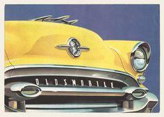 Vintage yellow Oldsmobile