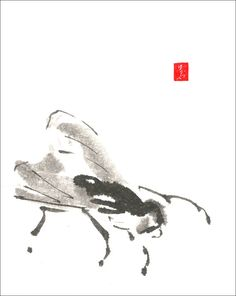A Fly, Sumi-e painting
