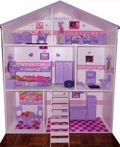 Casas De Muñeca Para Barbie En Mdf - Bs. 50.000,00 en Mercado Libre
