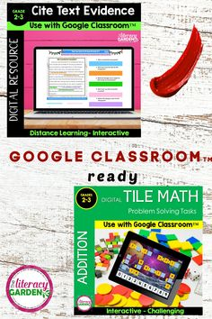 Ready for Google Classroom - math, reading, and language arts activities. Interactive and editable text boxes make it easy for students to complete. Designed for virtual learning. Click on the image to see all available products.