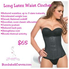 This waist cincher not only instantly slims your waist when worn, but it also helps you lose up to 4 inches in your abdominal area when worn 8-10 hours a day for 30 days. It works by using perfectly applied compression & providing resistance to ramp up your thermal activity, maximizing the work your muscles do for you to promote weight loss. Great for new moms wanting to get back to their pre-pregnancy shape or for anyone looking to get rid of unwanted belly fat. You can exercise in this…